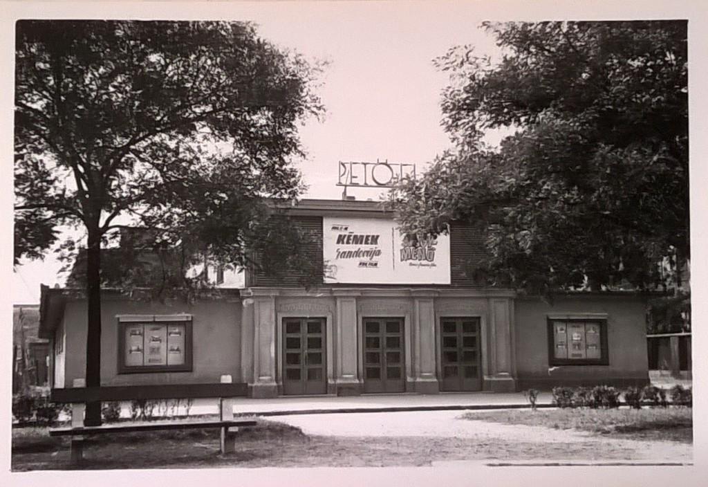 A Petőfi mozi 1969-ben. Fotó: Szakértői vélemény a PETŐFI-filmszínház épületéről (Budapest Műszaki Egyetem, 1969)