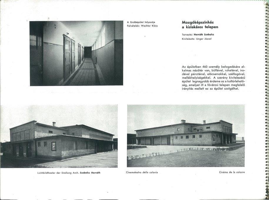 A mozi épülete a Tér és Forma 1942/11. számában.