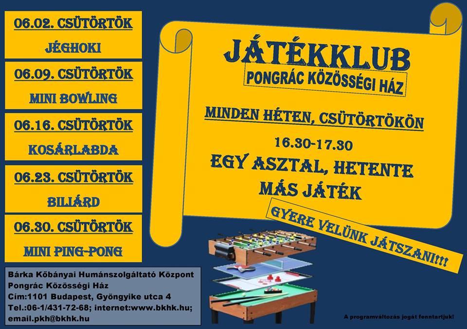 2016.05.27_PKH_juniusi jatekklub_plakat