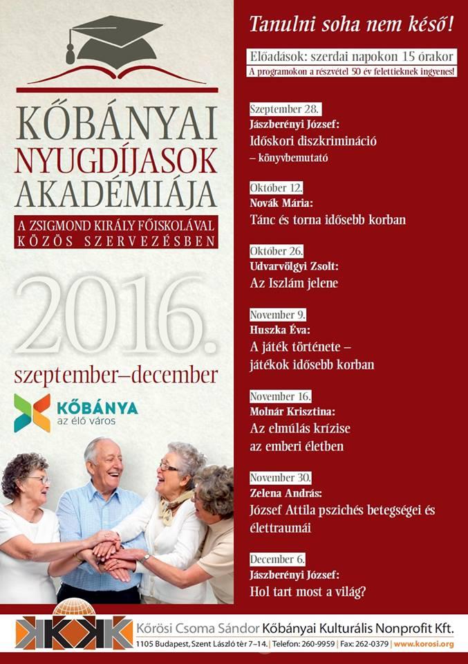 2016.09.16_Kobanyai nyugdijasok akademiaja_plakat